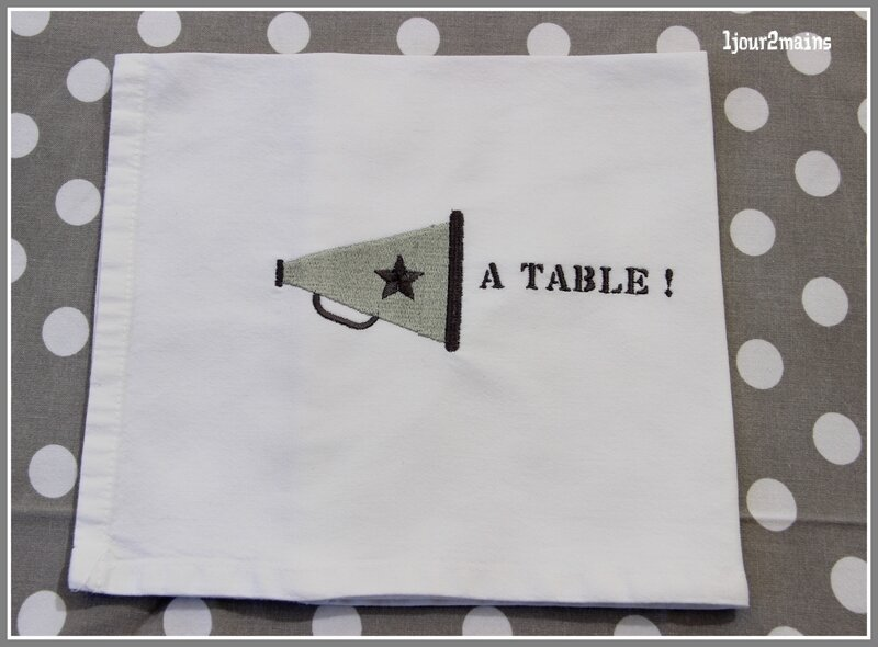 serviette a table