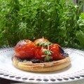 tartelettes tomates cerise/pâte d'olives