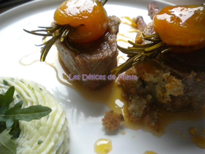 Carré d'agneau aux amandes et au caramel d'abricot 5