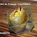 Coussins au fromage croustillants