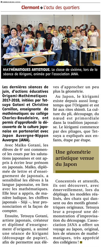 article journal La Montagne College Charles Baudelaire 2906 2018