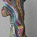 Hervé THAREL - SCHMIMBLOCK'S perroquet 2013 - gouache T7 sur argile - 23cm x 9cm (2)