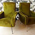 Paire de fauteuils design années 1960