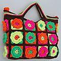 Un sac aux fleurs fluos !