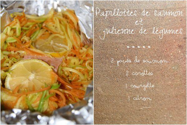 Papillotte saumon