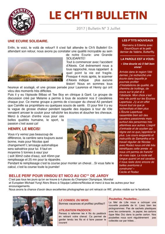 Ch'ti Bulletin n°3