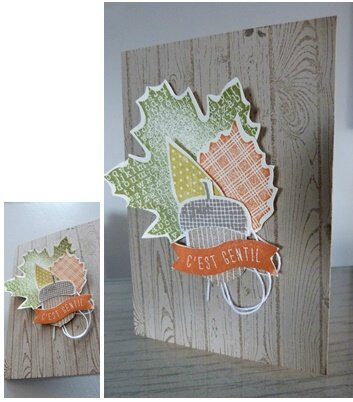 carte automne stampin up