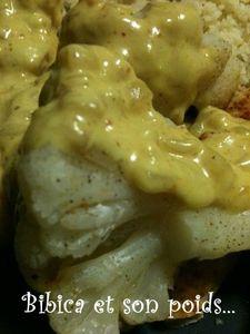 Chou-fleur au Micro Vap' et sa sauce épicée indienne