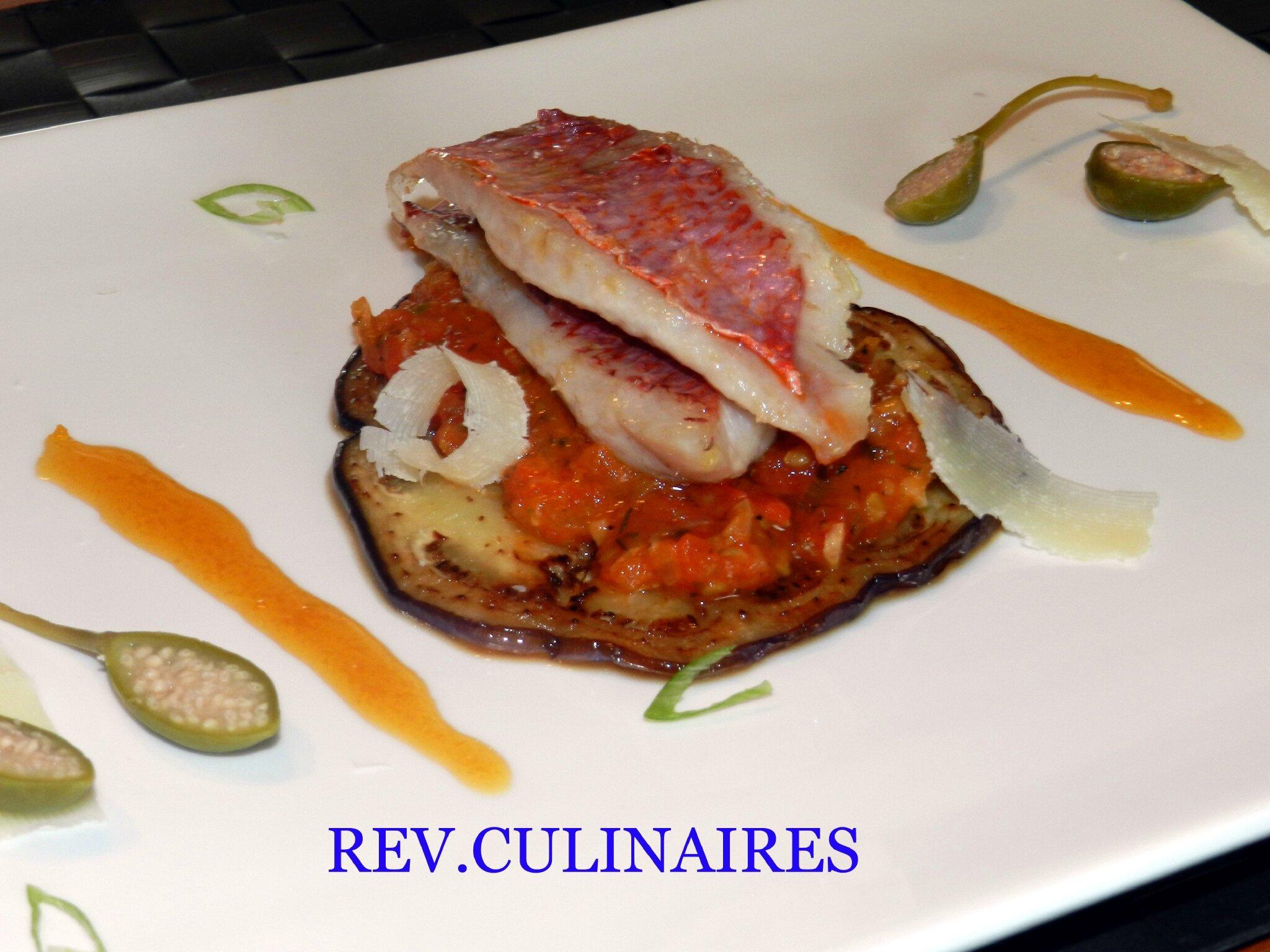 Filets de rouget-barbet et bohémienne de légumes