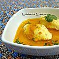 Quenelles de volaille maison, réduction de jus de carottes épicé à la marocaine