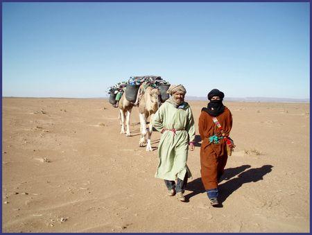 Mohamed, chamelier et maître du thé, Mustapha, guide et cuisinier