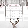 Calendriers mensuels : janvier- février 2017 (à imprimer - gratuit)
