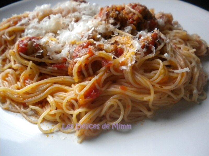 Spaghettis à la saucisse italienne 5