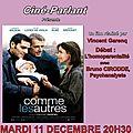 Ciné-débat sur l'homoparentalité avec la projection du film comme les autres - mardi 11 décembre 2012