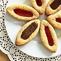 Barquettes au nutella® -barquettes à la confiture de fraises façon lu®