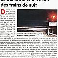 Ils demandent le retour des trains de nuit à reims