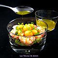Salade de crevettes et melon pour une entrée rapide et bien fraîche