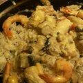 Cassolette de poissons au safran