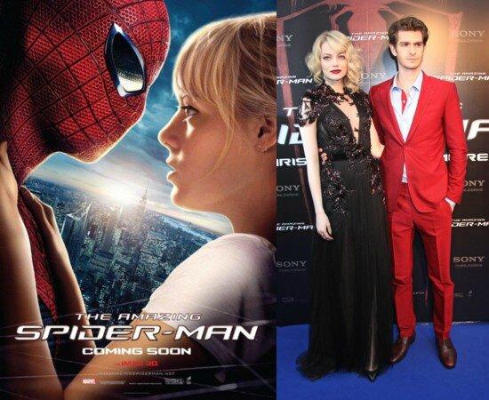 Andrew Garfield et Emma Stone dans les rôles de Peter Parker et Gwen Stacy