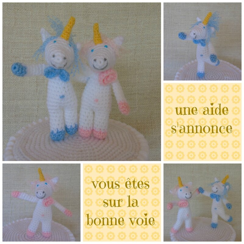 licorne-au-crochet-wedding cake topper