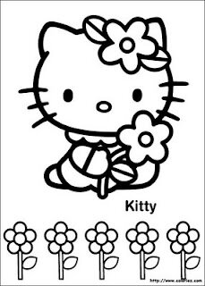 Coloriage Fleur Hello Kitty.Coloriage Hello Kitty Blog De Ma Nounou Christine A Cruas