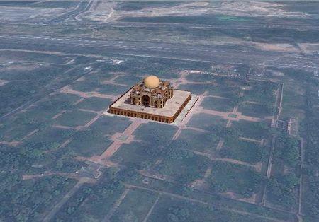 Vue du ciel Humayun's Tomb