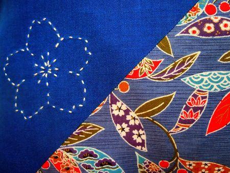 Coussin bleu détail