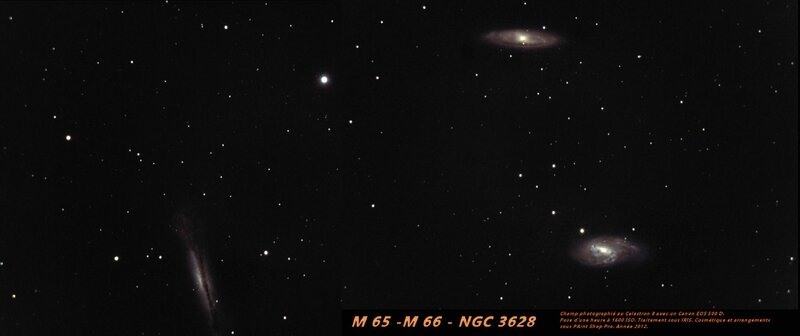Champ M65-66 NGC 3628