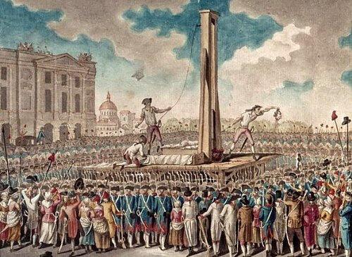 décapitation du tyran -louis-xvi-le-21-janvier-1793
