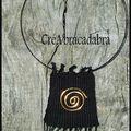 Colliers tissés (2) et petit topo sur la spirale dans l'art