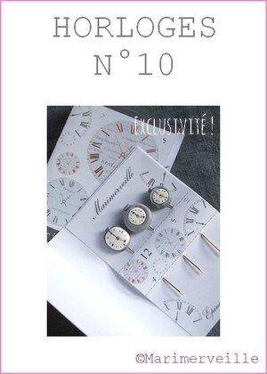 Epingles marimerveille horloges N°10