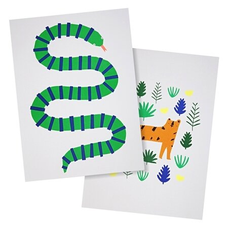 2 affiches serpent-tigre