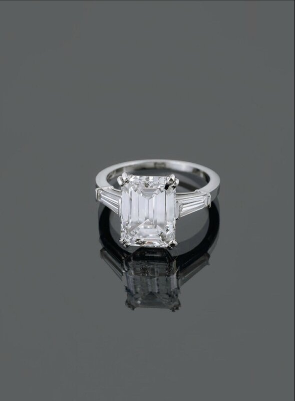 A single stone diamond ring by Van Cleef and Arpels