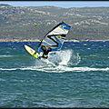 Windsurf aerial eau plate !...