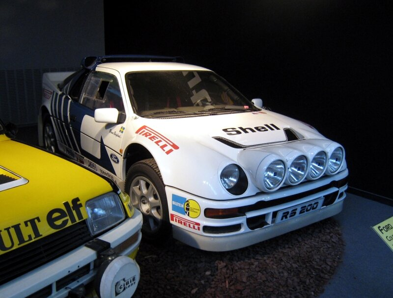 Ford RS 200 coupé de 1986 (Cité de l'Automobile Collection Schlumpf à Mulhouse) 01