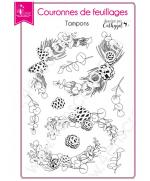 tampon-transparent-scrapbooking-carterie-pin-branche-baie-couronnes-de-feuillages