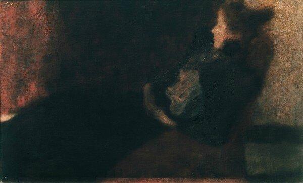 Gustav Klimt Femme a la cheminee 1897-1898 Belvedere
