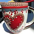 Mug crumble rhubarbe amande