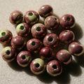 c) Fushia sur vert pistache 16mm