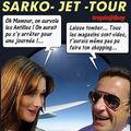 Sarkozy au mexique : les antilles vues d'en haut...