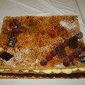 Le gâteau ...excellent surtout les framboises n'est ce pas Valérie??