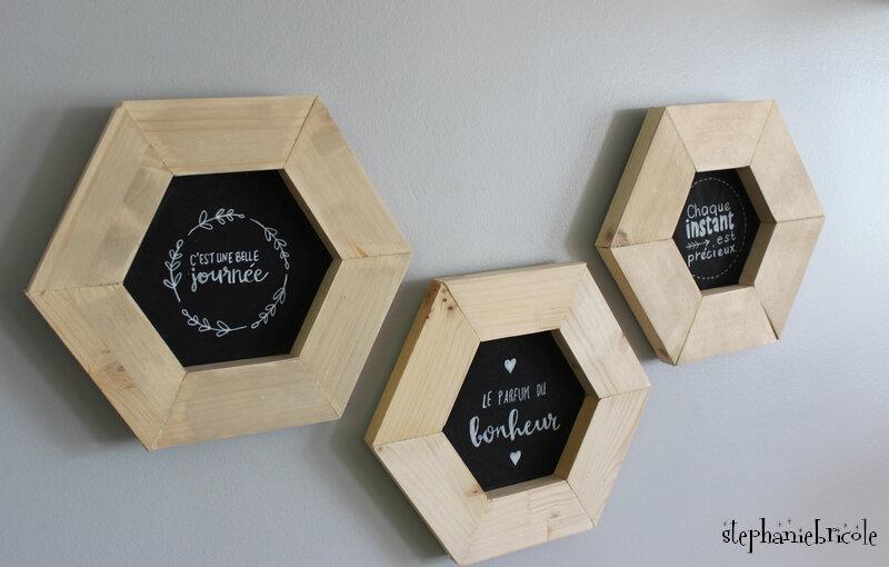 cadre hexagonale deco
