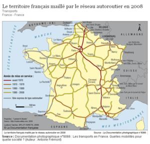 carte réseau routier France
