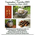 Du samedi 7 septembre au 3 octobre : exposition d' artistes ceramistes