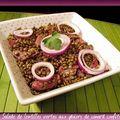 Salade de lentilles vertes aux gésiers de canard confits