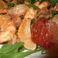 Salade de crevettes aux agrumes et noix de coco