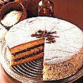 Gâteau coco fourré au chocolat