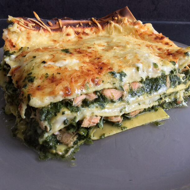 Lasagnes saumon épinards