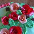 Gâteau jardin des roses