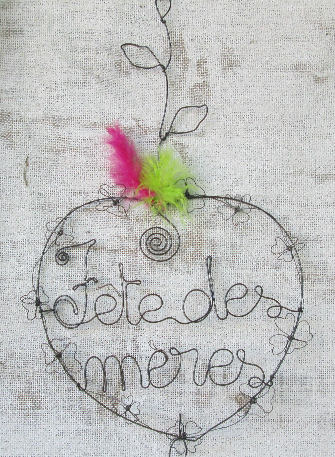 coeur fete des meres fil de fer